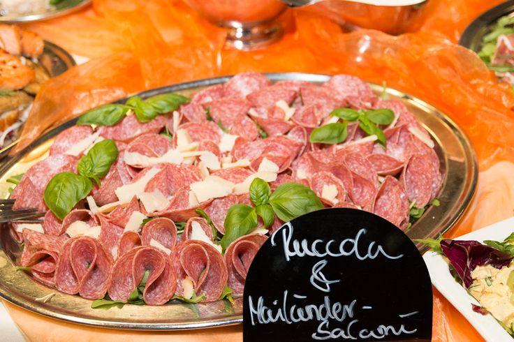 Rucola und Mailänder Salami