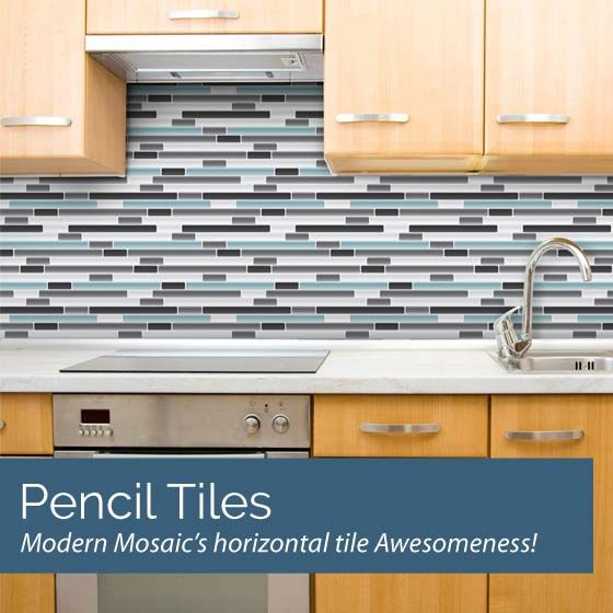 REMOVABLE vinyl backsplash for the kitchen… Great for a rental or when you  just need
