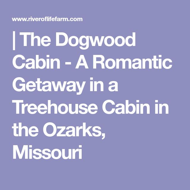 | The Dogwood Cabin - A Romantic Getaway in a Treehouse Cabin in the Ozarks, Missouri