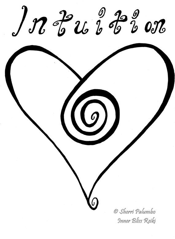 Intuition/ Reiki Art/ Law of Attraction by InnerBlissReiki on Etsy, $13.00