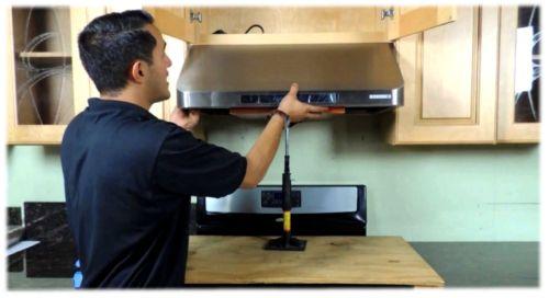 Руководство по установке вытяжки на кухне
