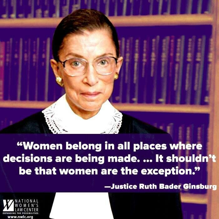 US Supreme Court Justice Ruth Bader-Ginsburg (also known as 'the Notorious RBG') on women and decision-making