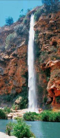 Cascada, salto de la novia, Navajas provincia de Castellón ,, España