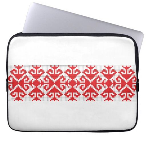 romania popular motifs symbol genuine folk costume computer sleeves