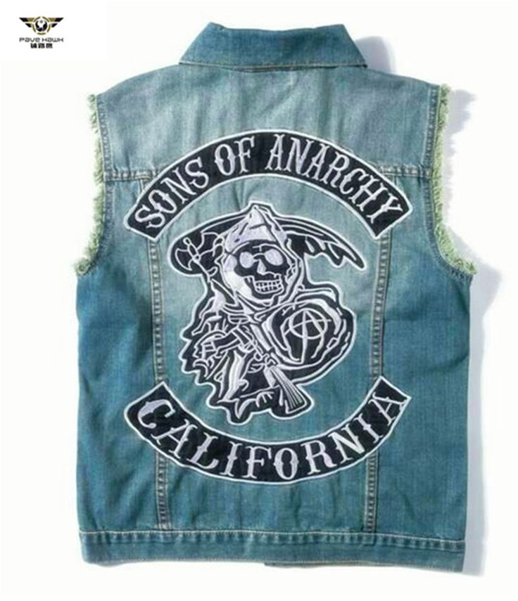 Championship rings and more!! Rings and much more!! Sons of anarchy E... Check it out here! http://championshipringsandmore.com/products/sons-of-anarchy-embroidery-cowboy-vest-men-waistcoat-denim-vest-coat-jacket-jeans-clothing?utm_campaign=social_autopilot&utm_source=pin&utm_medium=pin