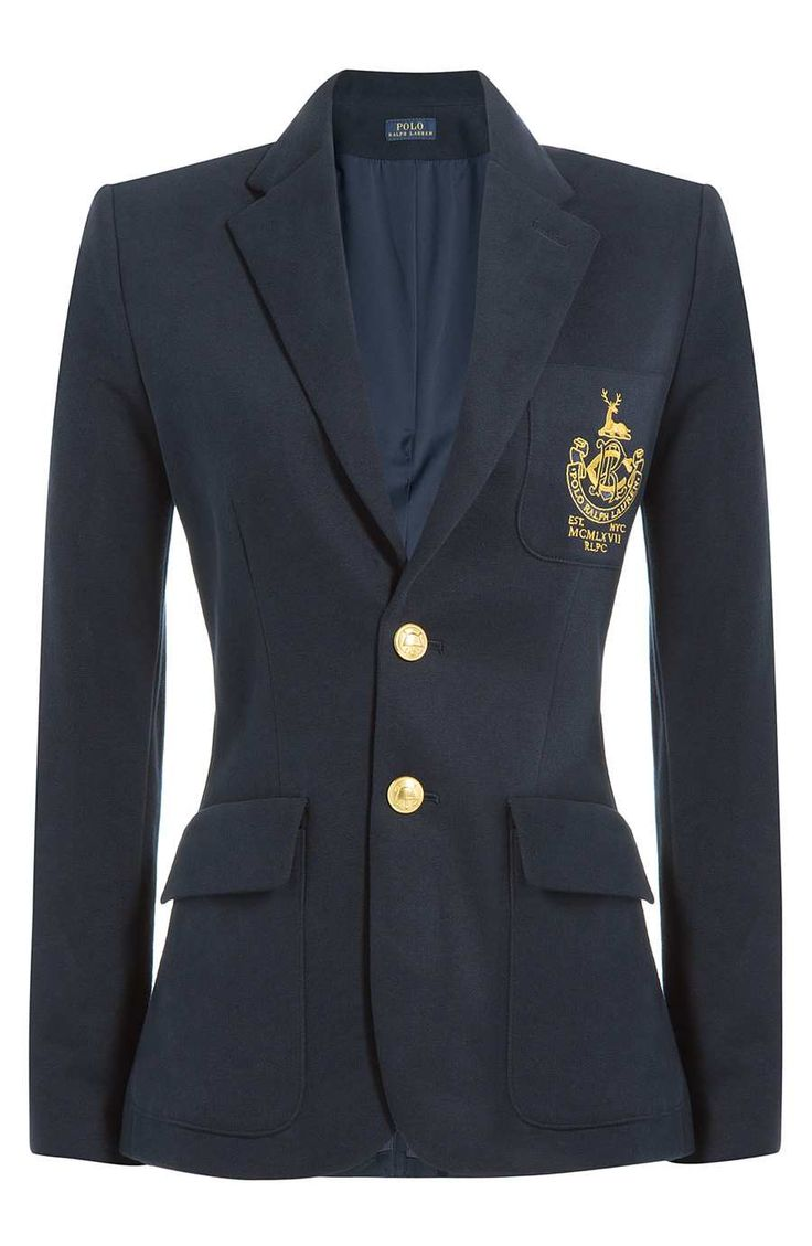 Navy Embroidered Nautical Blazer  https://www.australiaqld.com/product/navy-embroidered-structured-blazer/ #fashion #style #dresses