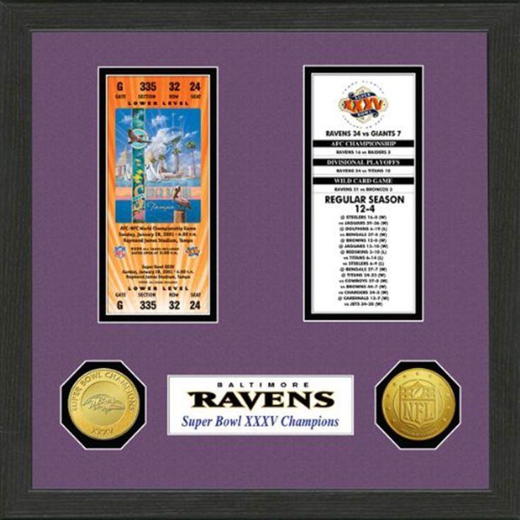 Baltimore Ravens SB Championship Ticket Collection