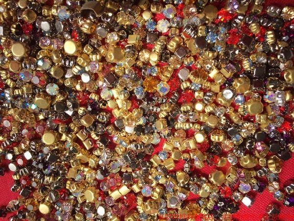 фунты волос и ручной DIY материал одежды клешня бурение, лежащей в основе меди цветного стекло смешивания алмазного бурения блестящего 0.3-1cm
