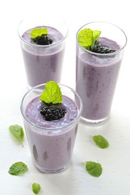 Eat Good 4 Life » Blackberry, banana and mint smoothie