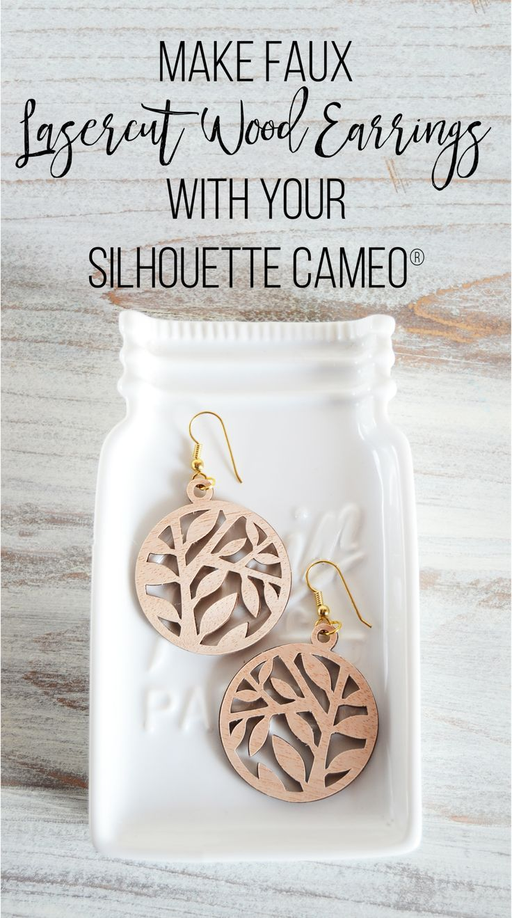 Make Faux Lasercut Wood Earrings with your Silhouette CAMEO® – Silhouette America Blog