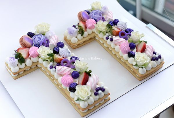 Number Cake Purple Pink Floral Berries By Anastasia S Bakery Number Cakes Cake Lettering Birthday Cake Decorating