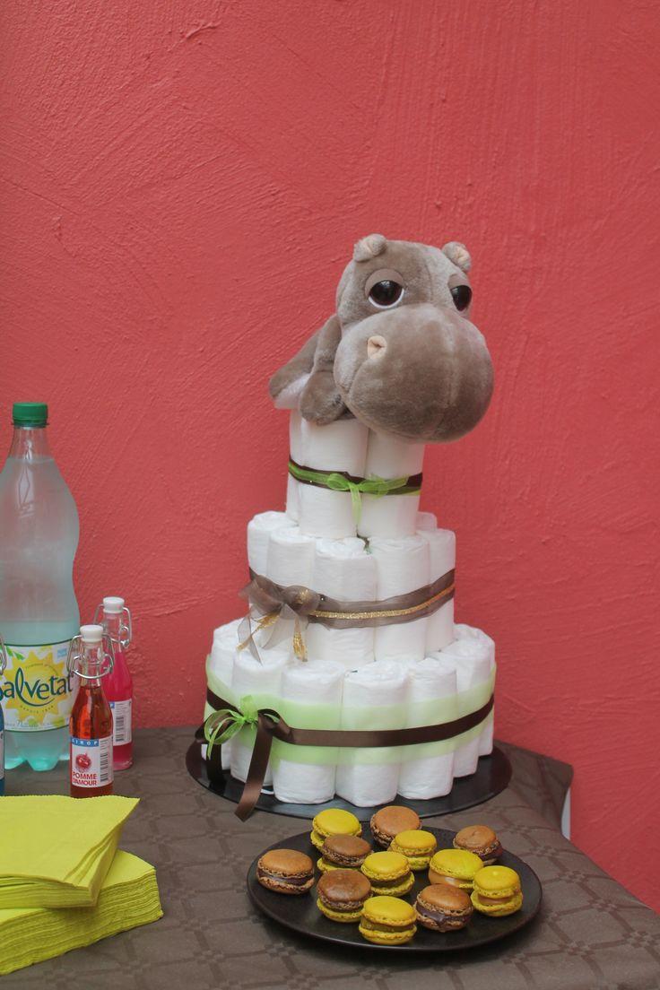le gâteau de couches hippo