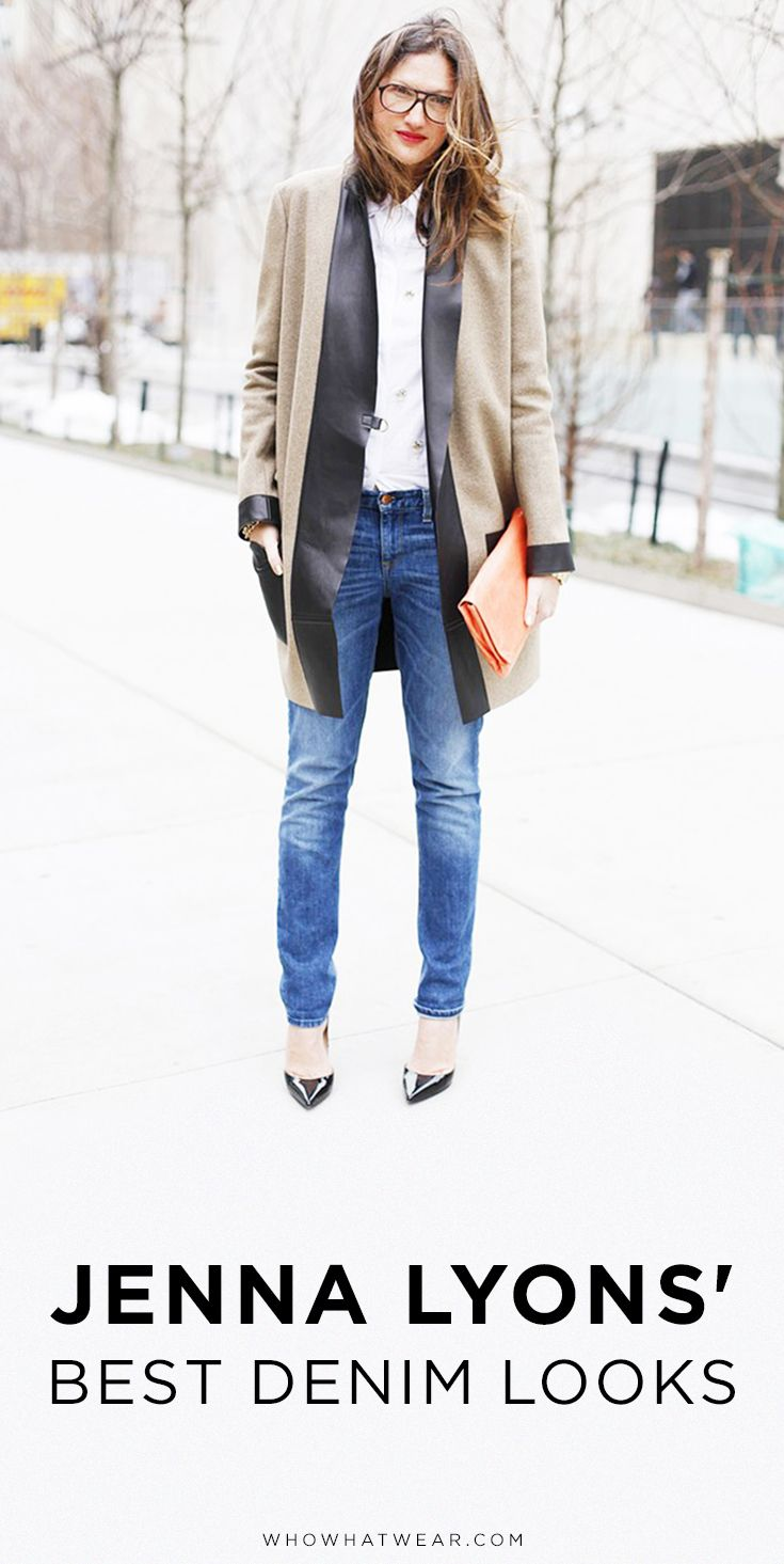 A roundup of 15 of Jenna Lyons' best denim looks of all time.