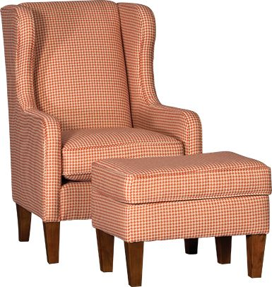 Mayo Furniture 5520F Fabric Chair And Ottoman
