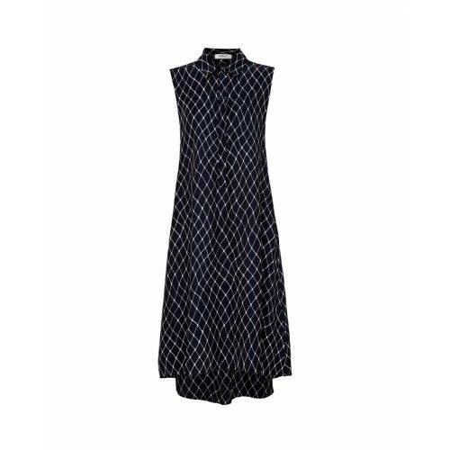 Mela Purdie Sleeveless Shirt Dress - Net Print Mousseline