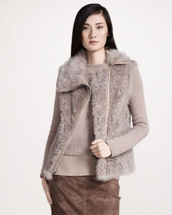 Shearling/Cashmere Vest from Brunello Cucinelli