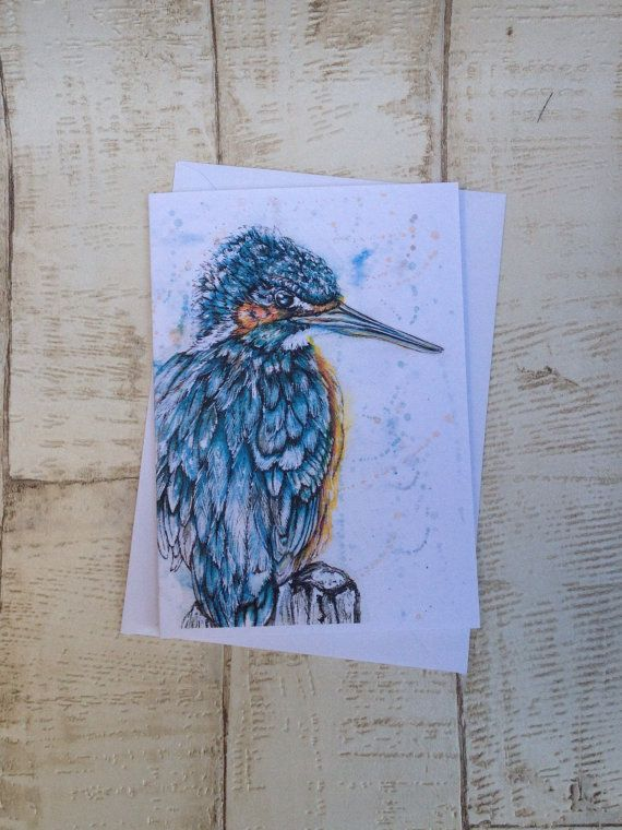 Kingfisher Kingfisher Card Bird card A6 Greeting Card
