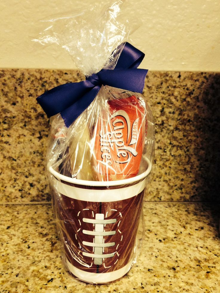 Football team snacks Cup from Dollar tree Filled with goodies 14 paper cups for $1