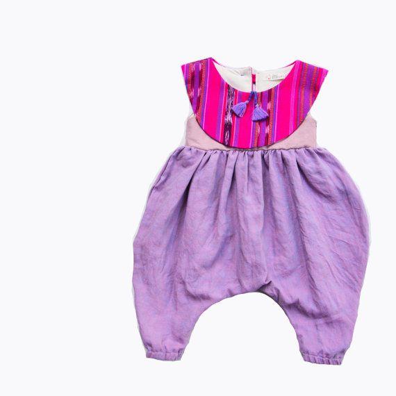 Little Girls Harem Style Jumpsuit Jumper Romper by littlepicot
