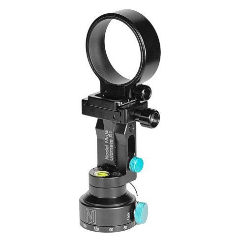 Nodal Ninja Ultimate R1 package with RD5 Advanced Rotator without lens ring. R1 is a single row panoramic head designed for use with circular and full frame fis