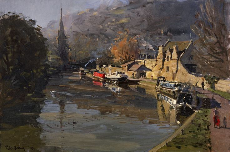 Peter Brown - Misty Start to a Sunny November Day, Widcombe, 2010