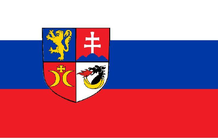 Flaga Słowacji - wersja związana z historią Słowacji, Księstwem Nitry