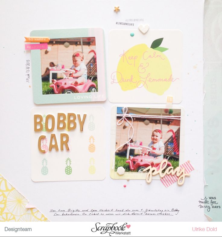 Layout mit Pink Paislee Citrus Bliss & Freckled Fawn Wood Chip - von Ulrike Dold
