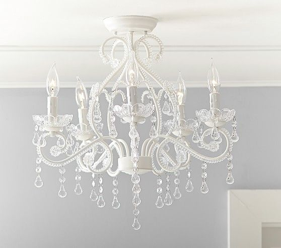 I want this if baby is a girl. Lydia Flushmount Chandelier | Pottery Barn Kids