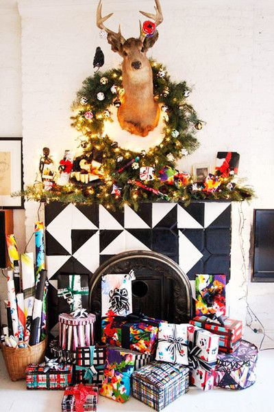 Maximalist Mantel - How To DIY Your Holiday Mantel - Photos