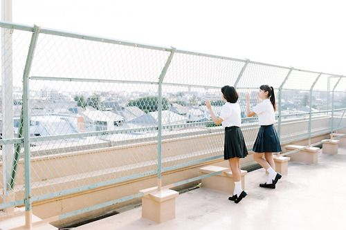 Two girls at a Rooftop