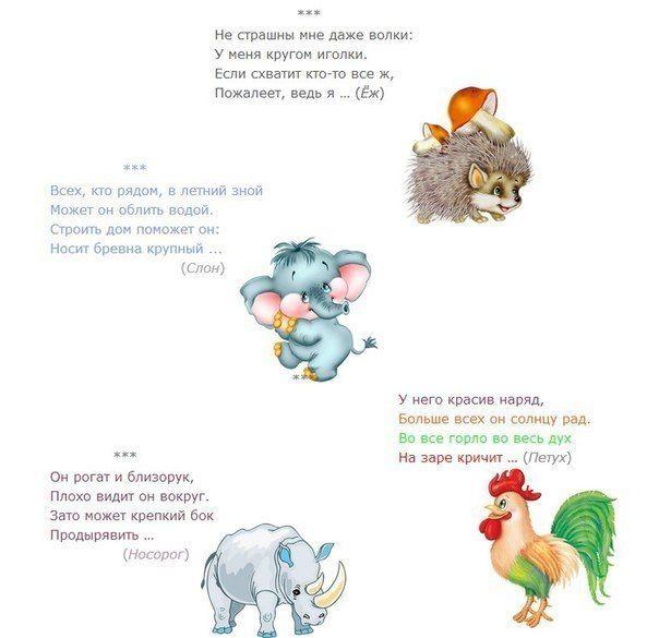 Загадки-рифмы про животных с ответами / Дети - это счастье!