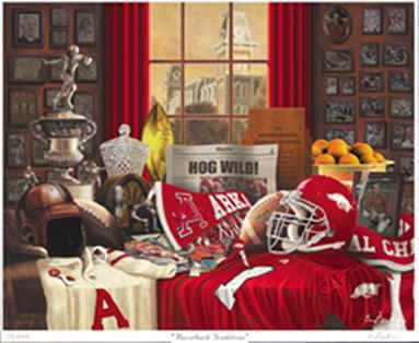 University of Arkansas Razorback Traditions Art Print