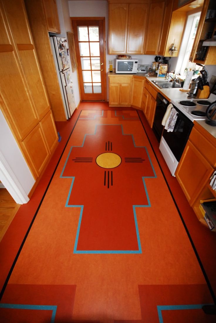 Flooring Ideas Modern Marmoleum Linoleum Kitchen Floor For Smal