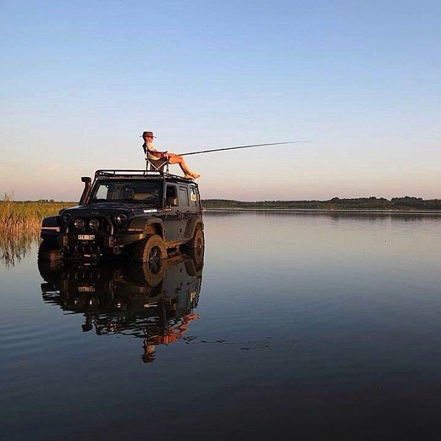 Winner, Best Use of a Jeep - not into fishing but an awesome shot ..j