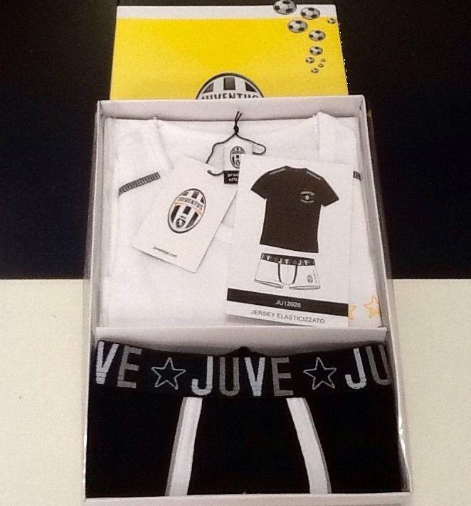 Completo intimo ragazzo uomo Juventus boxer + maglietta tifoso 12 anni