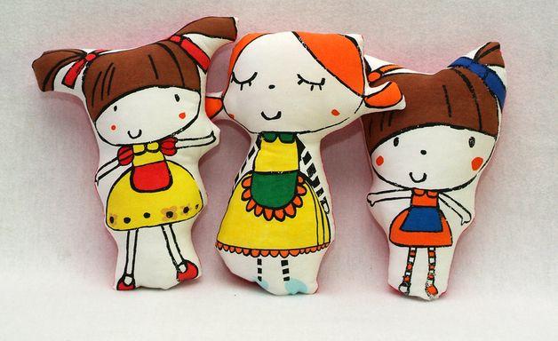 poduszka lalka kolorowa - MILLKA - Lalki