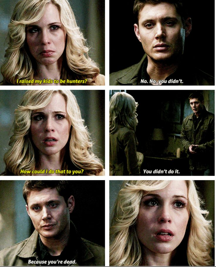 ''I raised my kids to be hunters?'' Mary Winchester literally breaks my heart. :( / 5.13 : The Song Remains the Same