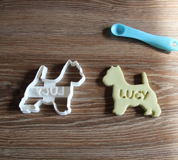 Westie Highland Terrier Cookie Cutter Custom treat Personalized Dog Breed puppy Treat Cutter by CookieCuttersFactory on Etsy