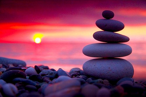 Sunset Behind Stacked Rocks Let 39 S Rock Pinterest
