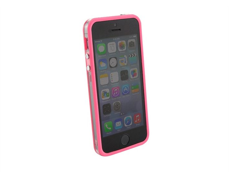 Bumper iPhone 5/5S transparant Roze