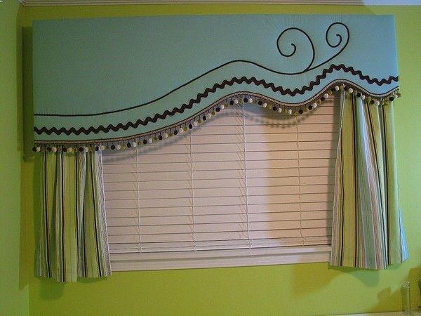 DIY Window Treatment Project: Asymmetrical Cornice