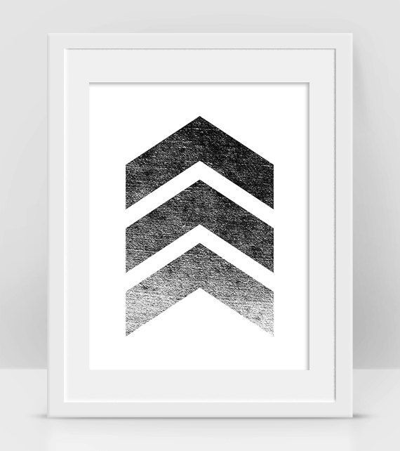 Grunge Wall Decor Black And White Print