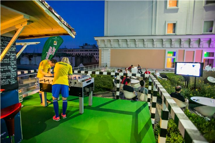Kick-off the football games on the roof! World Cup Sky Terrace