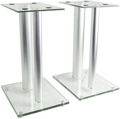 VIVO premium universal aluminum and glass speaker stand (2 stands) for satellite speakers, bookshelf speakers, and more. Designed to elevate your speakers and enhance audio sound, STAND-SP01S's sleek attractive appearance is perfect for any home theater system. The stands are supported by... more details available at https://furniture.bestselleroutlets.com/game-recreation-room-furniture/tv-media-furniture/speaker-stands/product-review-for-vivo-premium-universal-floor-spe