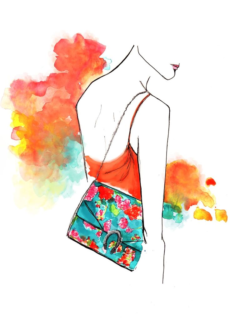 Gucci Fashion Illustration by Stephanie Anne www.stephanieanne.ca