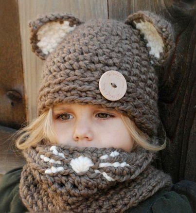 #MegaTip de #Moda: en #invierno, protege a tus #hijos del #frío con este simpático #gorro de #crouchet, con #diseño de #animales.