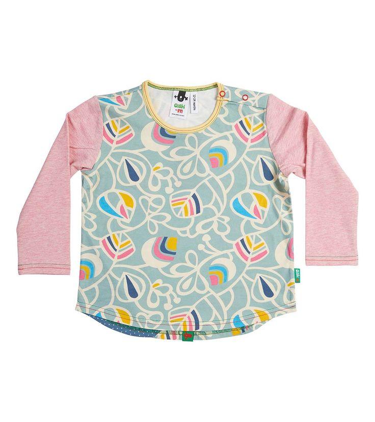 Ecstatic LS Splice T Shirt, Oishi-m Clothing for Kids, Winter 2018, www.oishi-m.com