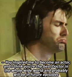 David Tennant listening to an eleven year old caller at a radio station...this is too cute (pt.1)