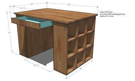 alternative dimensions and plans that I found on her site #craftroom #crafttable #craft #DIY