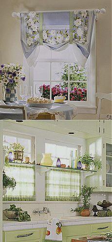 Мини-бикини: кухонные шторы из небольших кусочков ткани | Домохозяйки